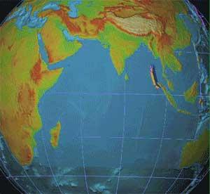 animación tsunami Indonesia 2004