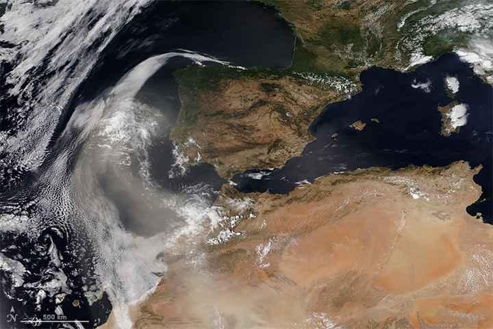 polvo marroquí viaja hasta a España