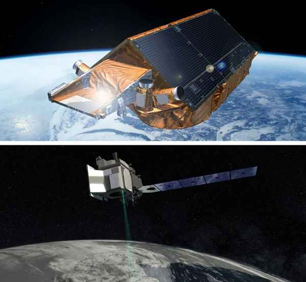 satélites CryoSat-2 y IceSat-2