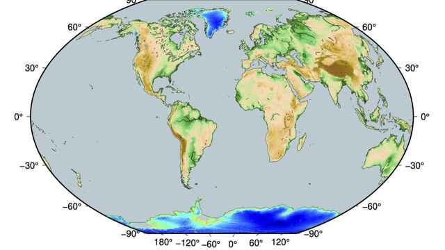 elevación del hielo glacial en la actualidad