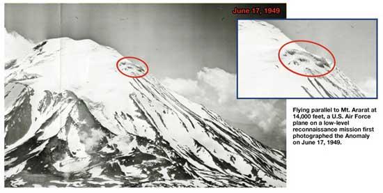 anomalía monte Ararat, foto aérea